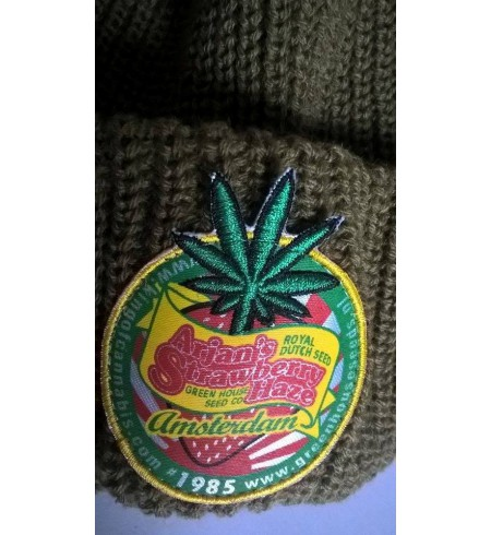 CZAPKA ZIMOWA Green House Seed Co Beanie - Strawberry Haze design